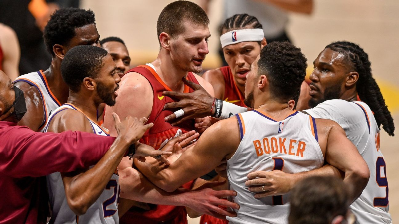 Nuggets MVP Nikola Jokic is sent off for punching Suns player Cameron Payne