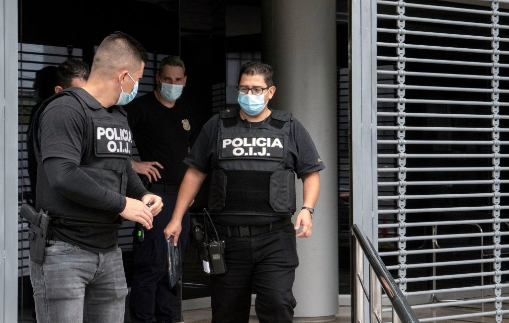 Raided the presidential house in Costa Rica, alleging corruption