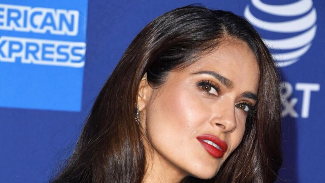 This is inside Salma Hayek's luxurious mansion in Los Angeles