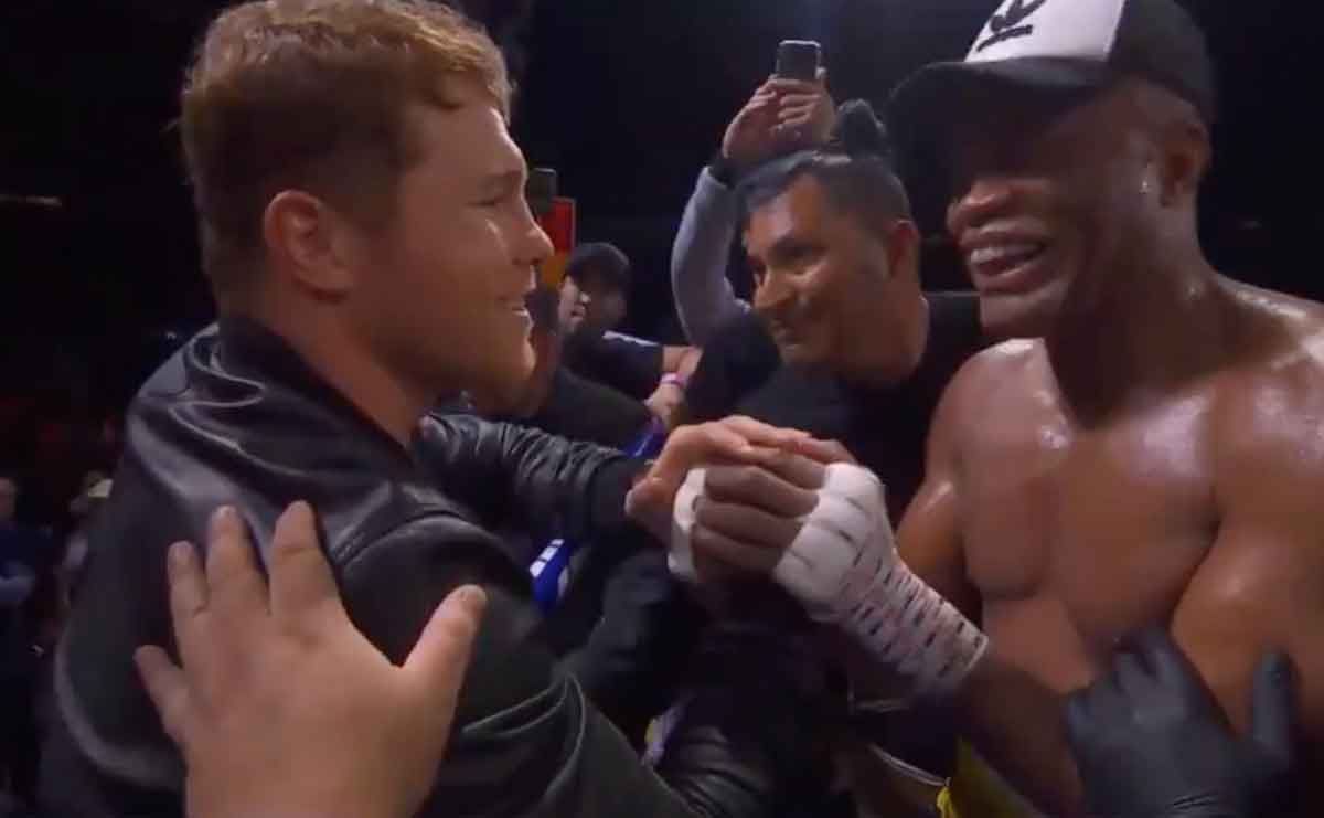 What Canelo said to Anderson Silva after his victory over Chavez Jr.