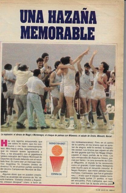 Argentina vs.  United States 1986