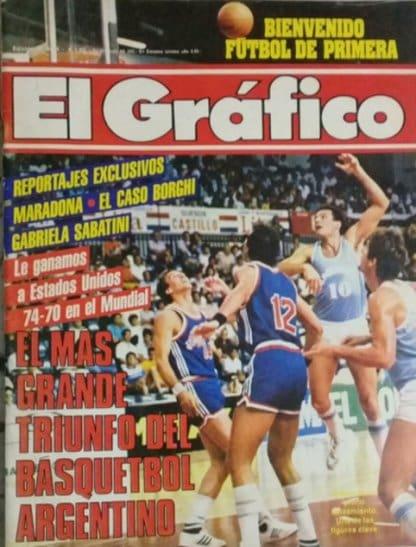 Graphic Cover - Arg vs.  USA 1986