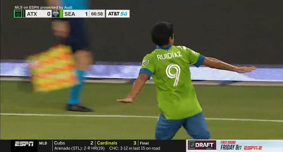 Target Raul Ruediaz |  Austin vs.  Seattle Sounders: This is how the 'long-distance flea' scored |  Video |  MLS 2021 |  NCZD |  Total Sports