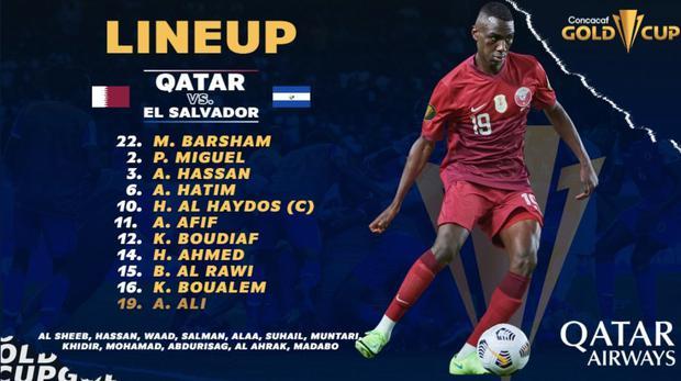 El Salvador vs.  Qatar: lineups