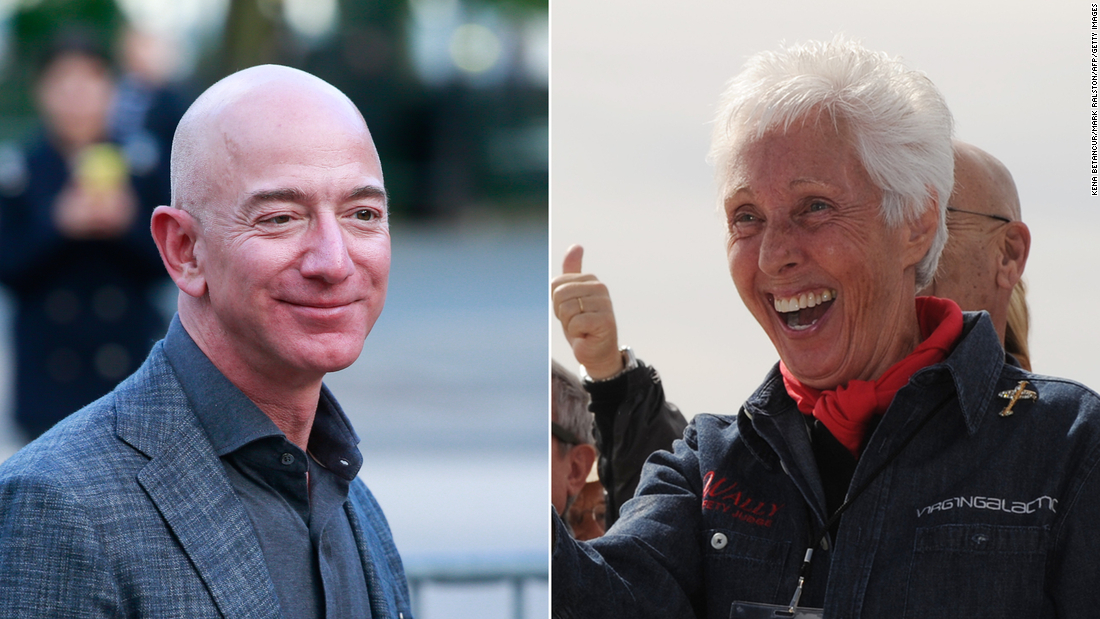 An 82-year-old woman who trained as an astronaut 60 years ago will travel to space with Jeff Bezos