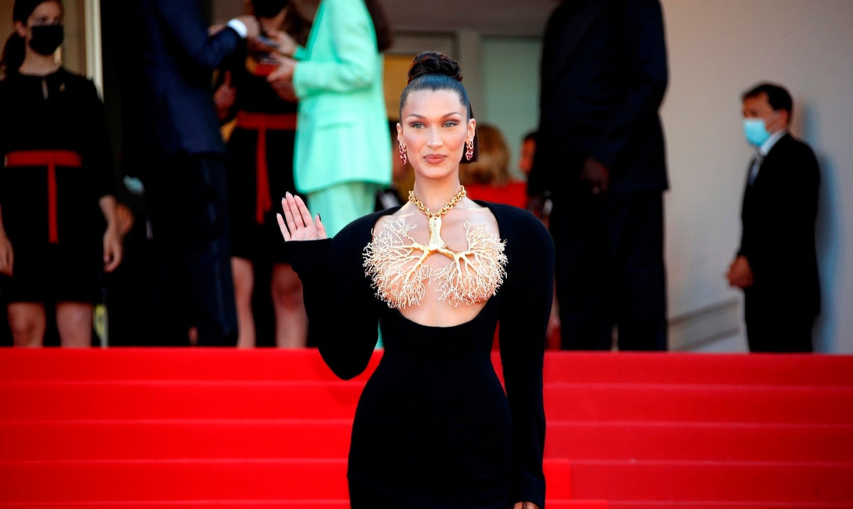 Bella Hadid dazzled at Cannes in a jewel dress fraught with risks