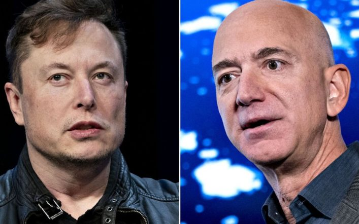 Dispute continues between Jeff Bezos and Elon Musk over NASA contracts