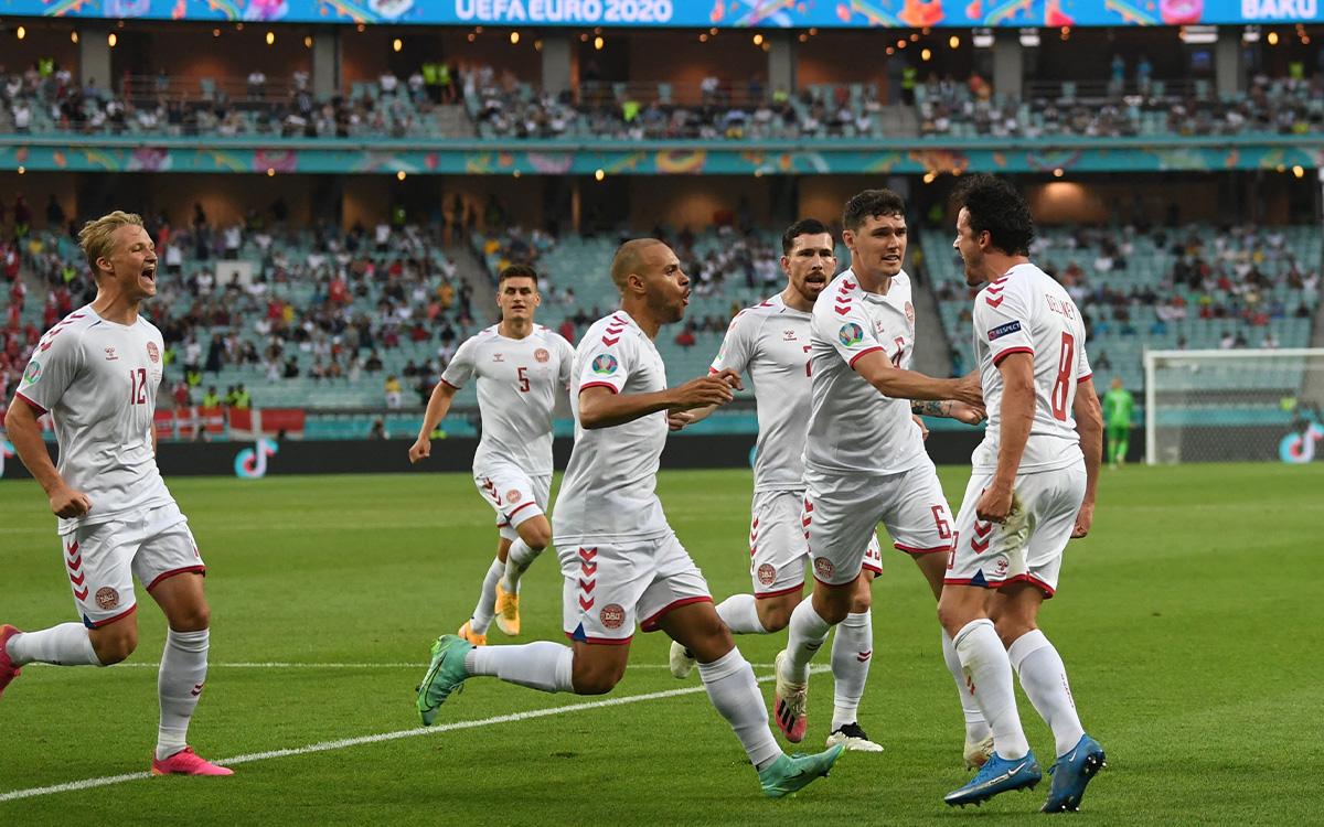 Match Summary Czech Republic vs Denmark (1-2).  Goals