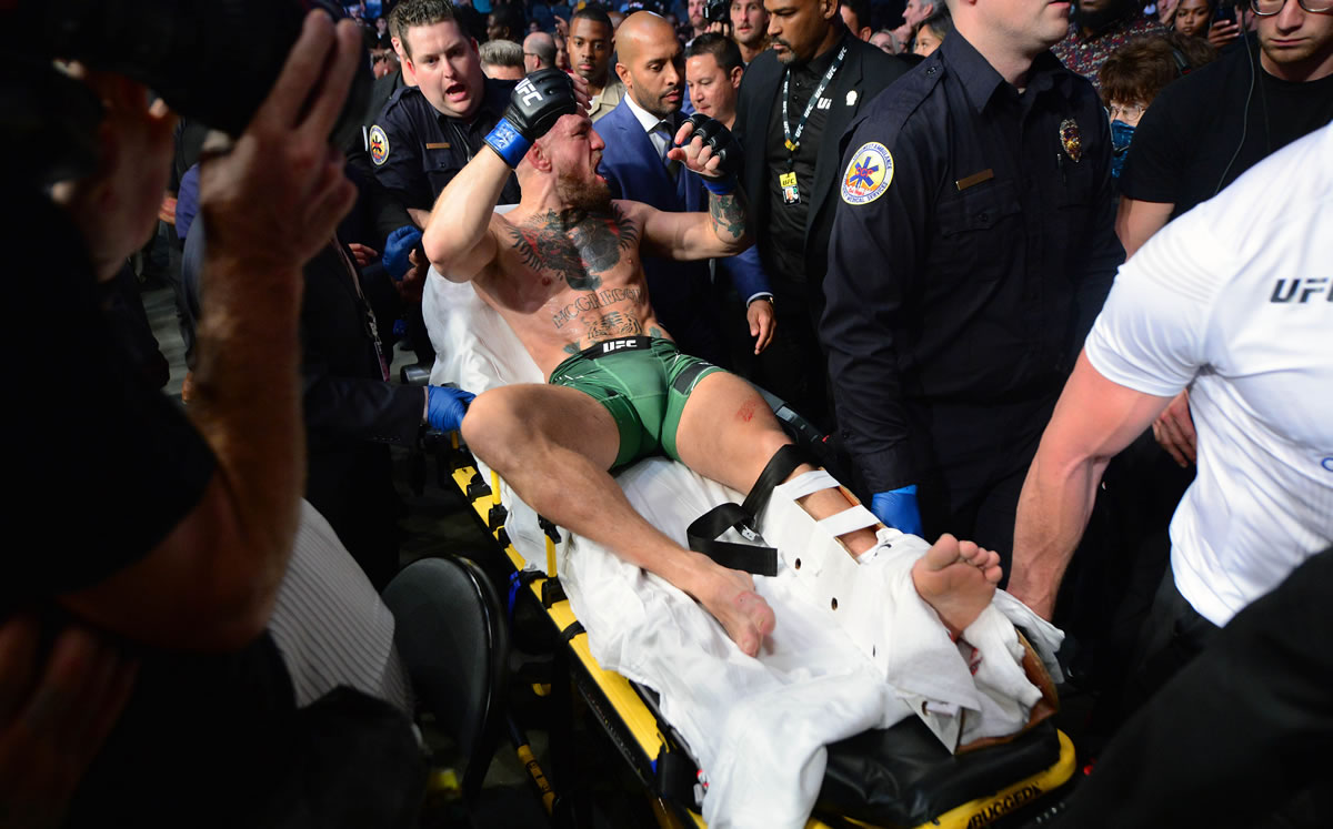 McGregor broke his ankle and lost his third fight to Powarer