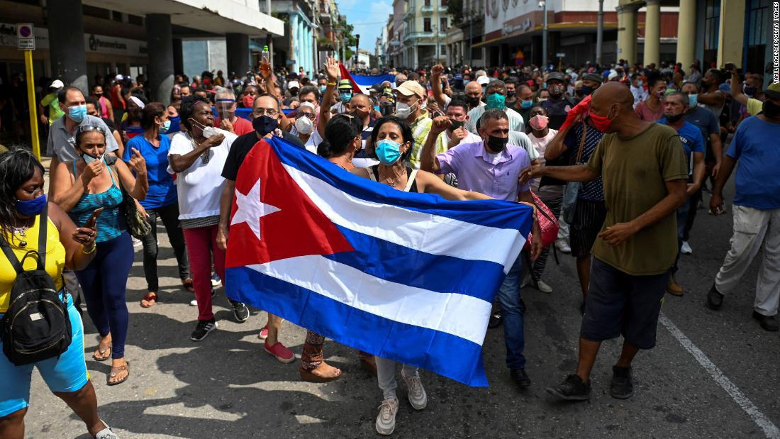 More than 100 protesters have been arrested or disappeared in Cuba
