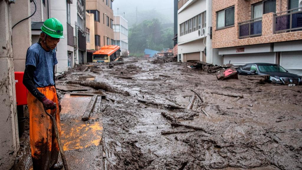 Japan landslide At least 20 missing and two dead in Japan landslide
