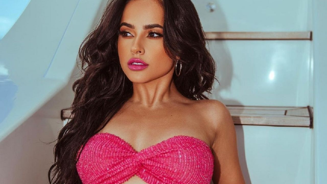 On a yacht, Becky G explained why she is one of the most beautiful women