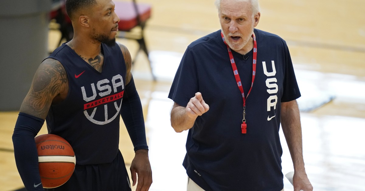 Popovic begins training with the US basketball team