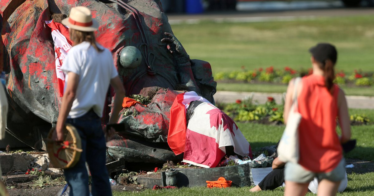 Protesters tore down statues of Queen Elizabeth II and Queen Victoria in Canada after more than 1,000 bodies of Aboriginal children were found
