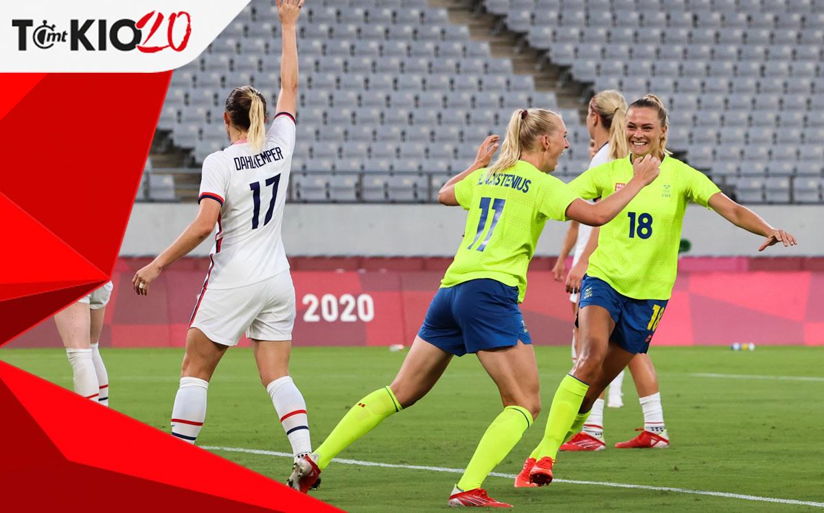 Sweden – USA (3-0).  Tokyo women's football result 2020