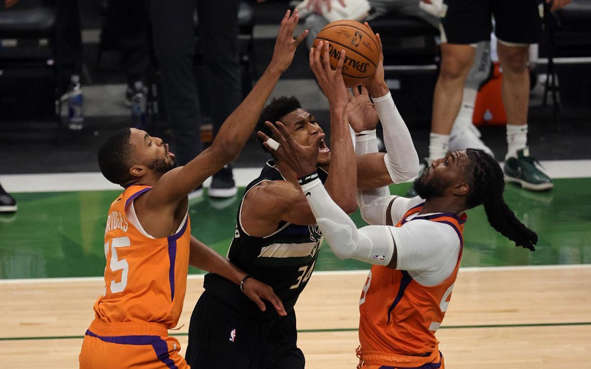 The Bucks were crowned NBA champions after beating the Suns in Game 6