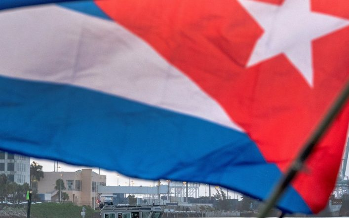 The ship returned to Miami after unloading firecrackers near Cuba