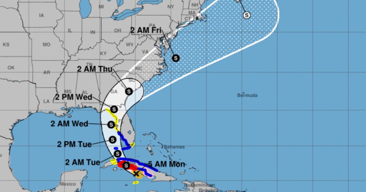 Tropical Storm Elsa approaches central Cuba and heads toward Florida