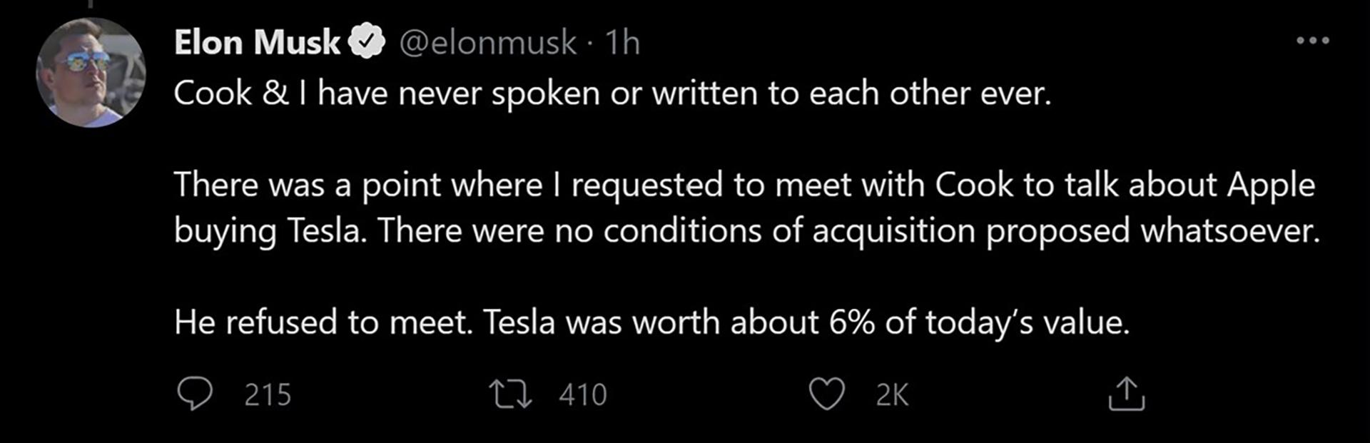 Elon musk with apple