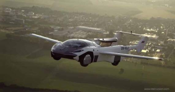 just awesome!  Arrival of a flying car: it travels in the air at a speed of 170 kilometers per hour