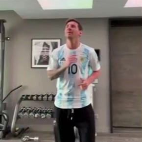 Messi joined the dance with the Argentine Olympics!