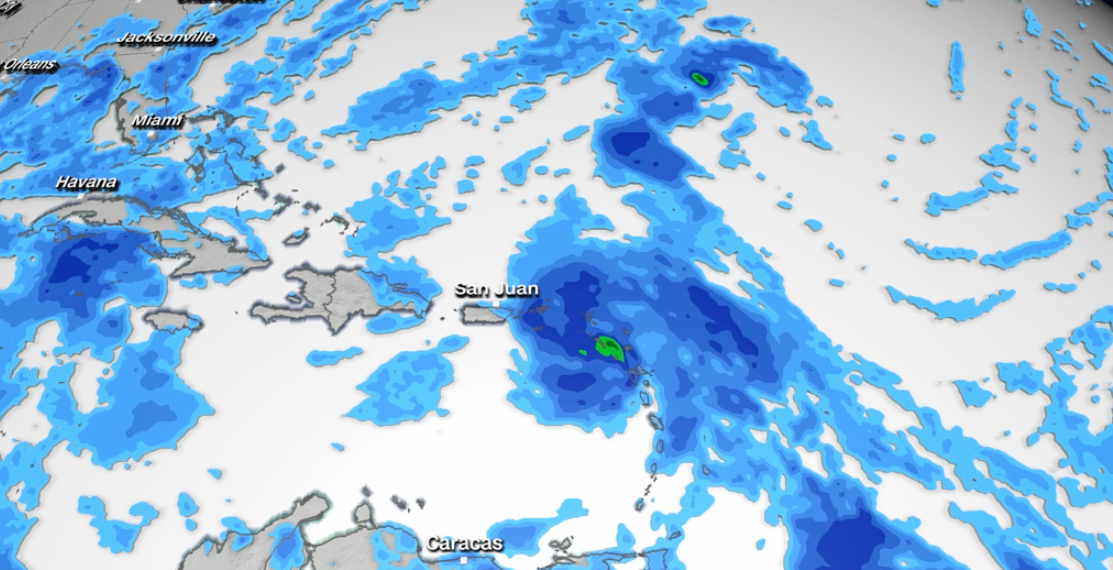 Tropical Storm Warning for Parts of the Caribbean