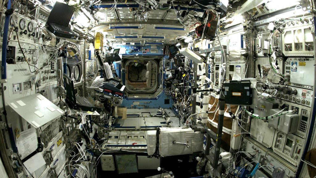 The unit of fate inside the International Space Station