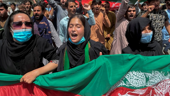 Afghan women defy the Taliban and demand their rights