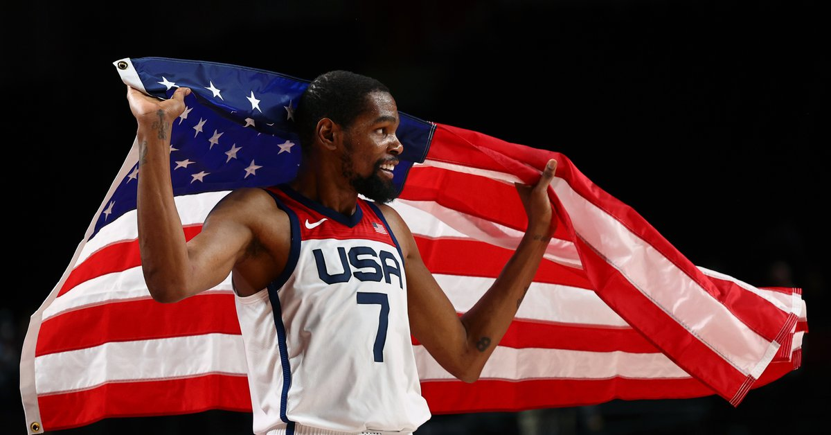 Featuring Kevin Durant, the United States beat France and won the Olympic gold medal in basketball for the fourth consecutive time.