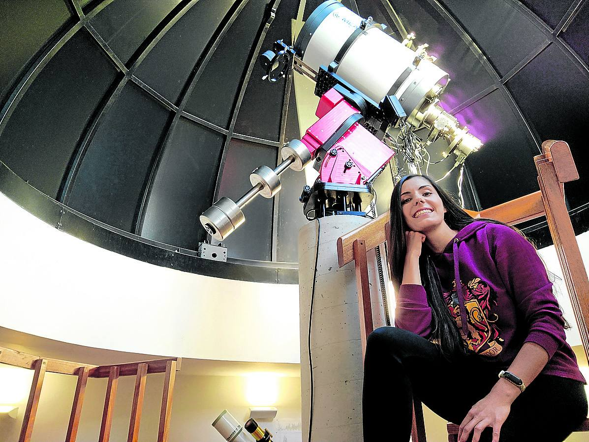 Beatrice Varona at the Astronomical Observatory in Cantabria.