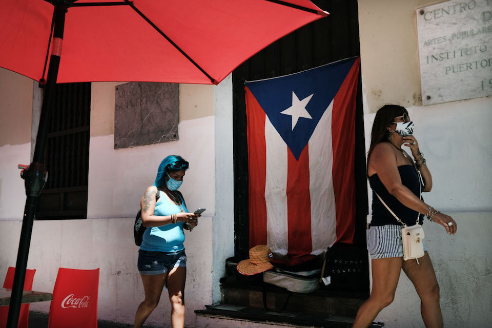 Puerto Rico and 6 other destinations, on the Centers for Disease Control and Prevention (CDC) list of 'very high' travel risks due to COVID-19