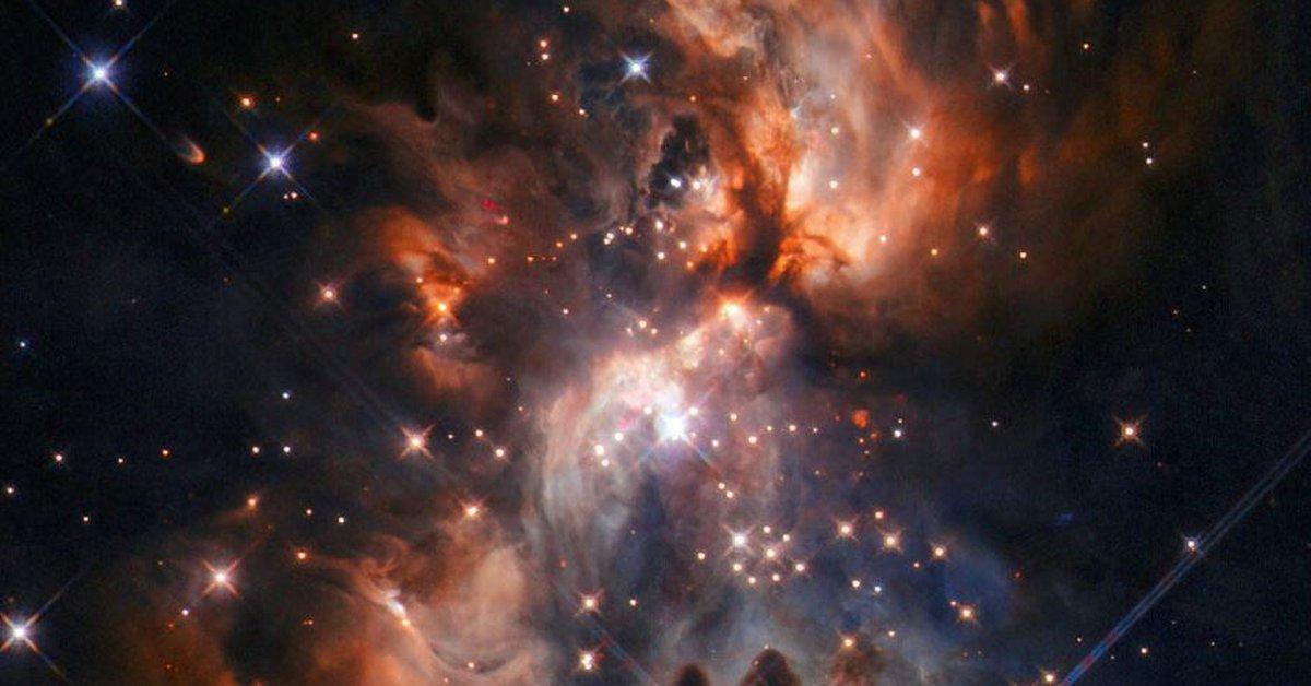 Science.-Hubble Overlooking Dusty Star Arboretum