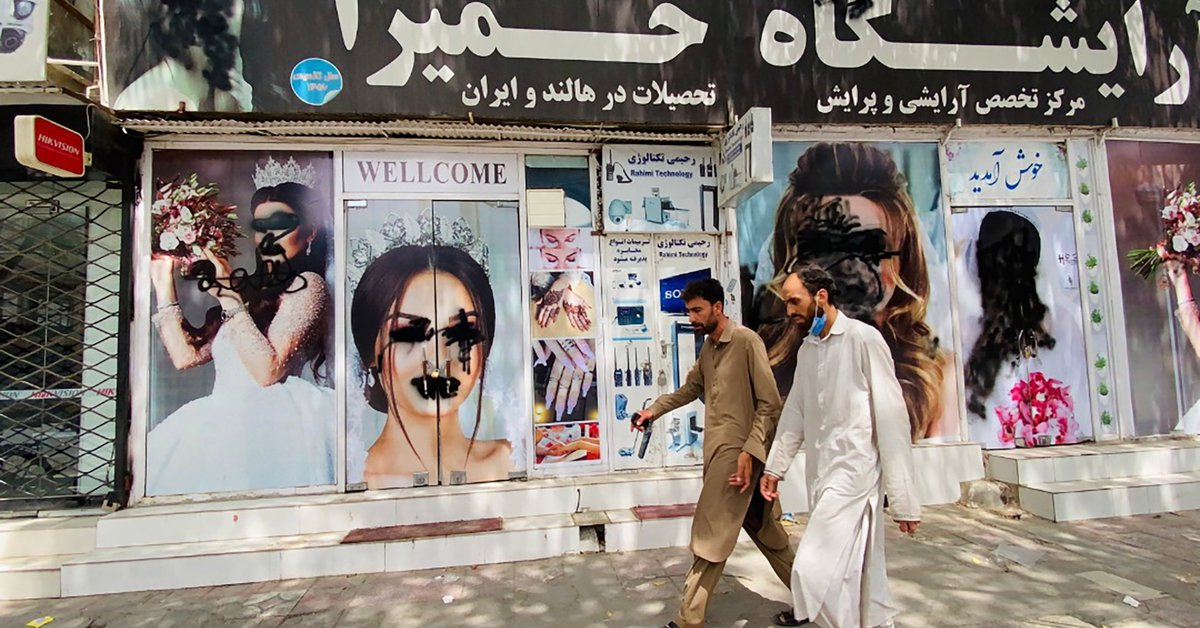 The Taliban banned radio stations from broadcasting music, and women were banned from working in the media