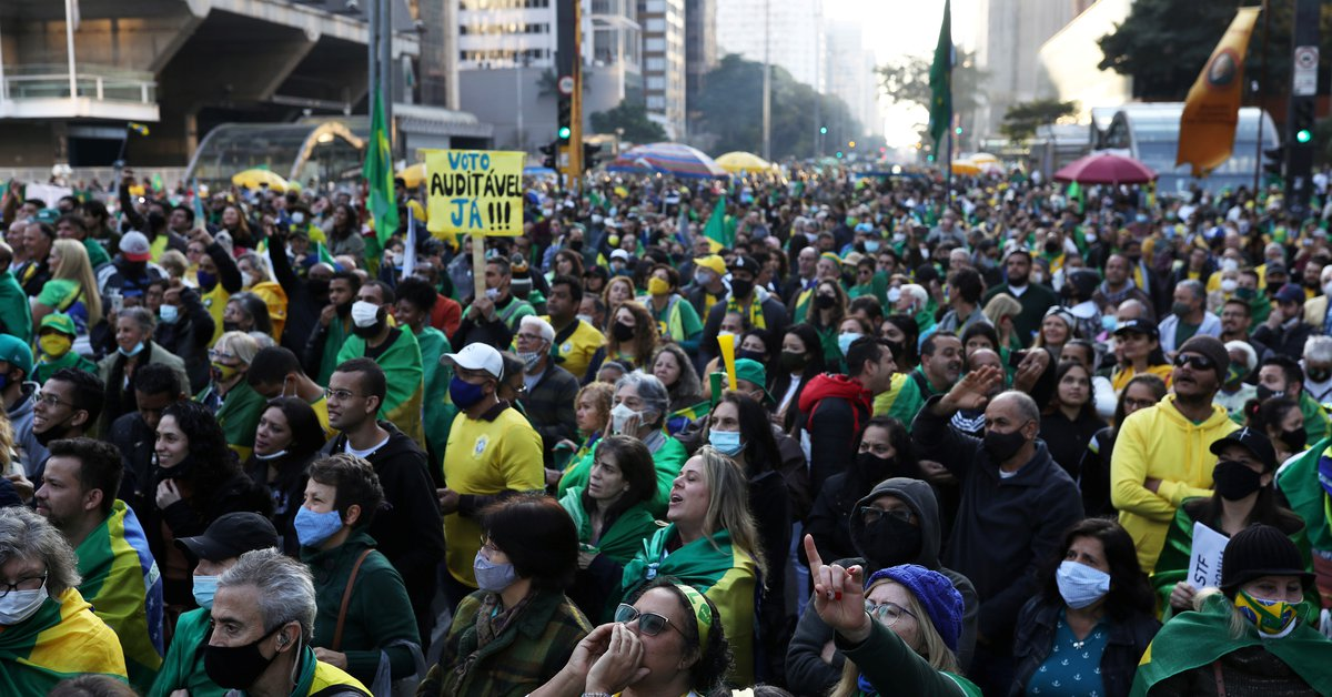 Thousands of Bolsonaro supporters protested Brazil's electoral system