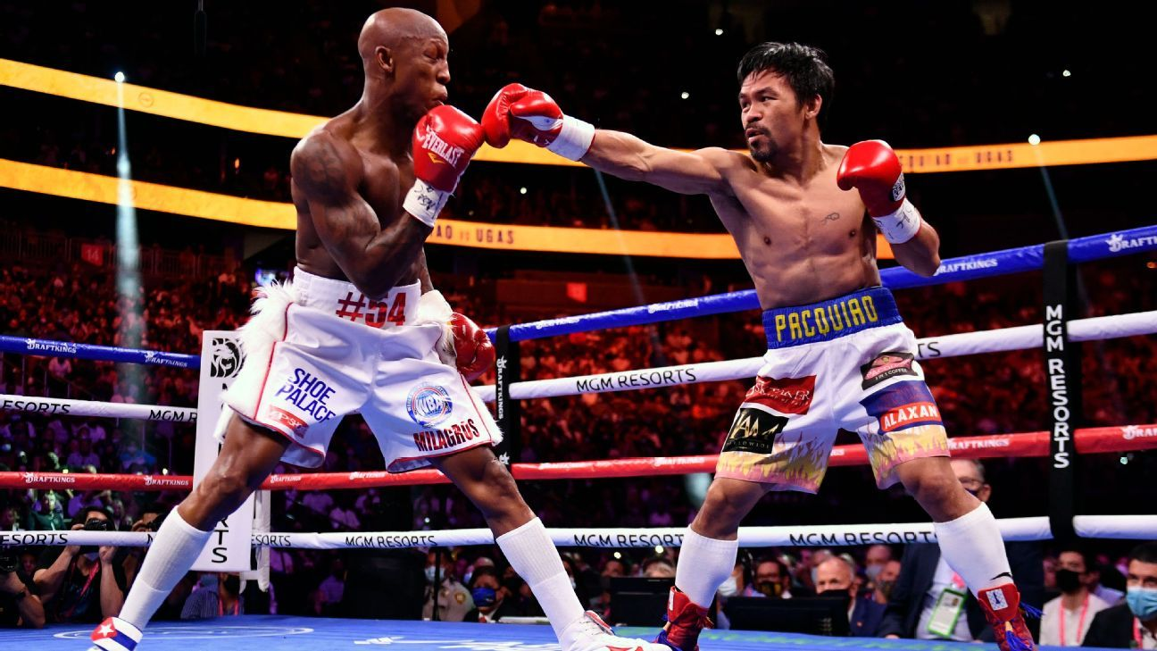 Yordenis Ogas hits the ball and beats Manny Pacquiao in Las Vegas