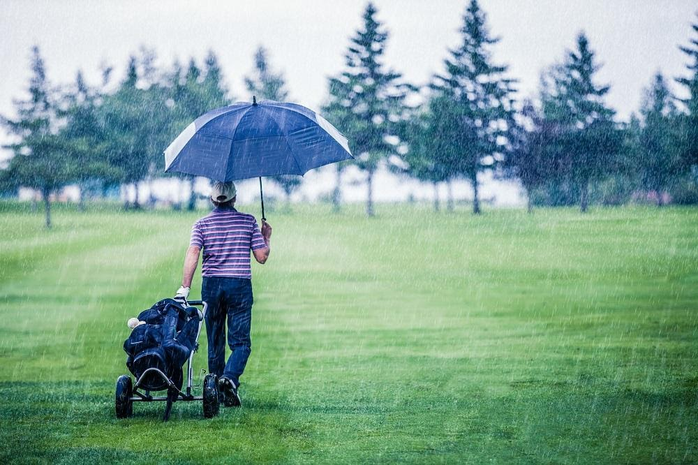 How to successfully play golf in wet weather conditions.