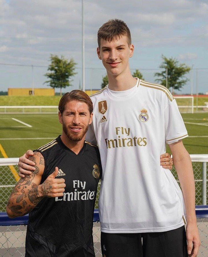 Sergio Ramos and Oliver Rio, during a photo taken in 2019. Photo: Instagram / Oliver Rio.
