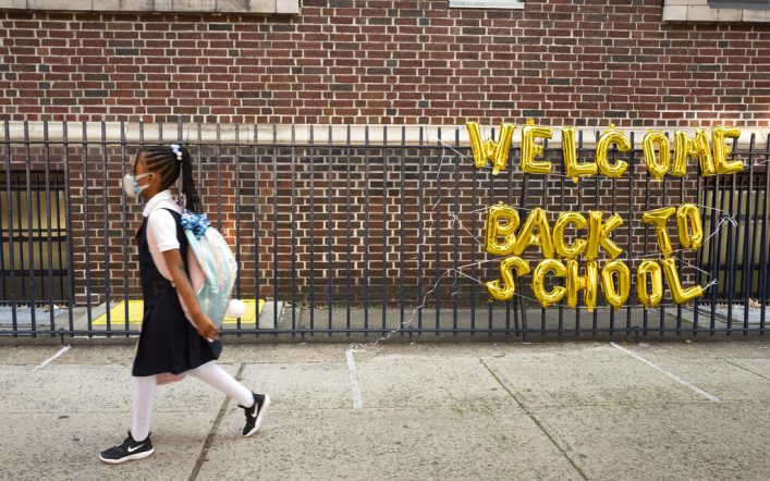 A federal judge blocks a vaccination order for teachers in New York
