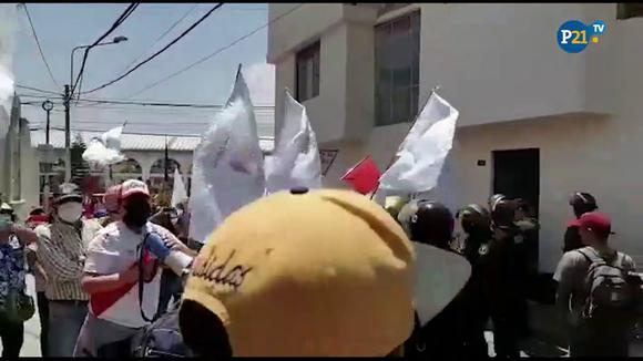 Rally against Evo Morales Arequipa