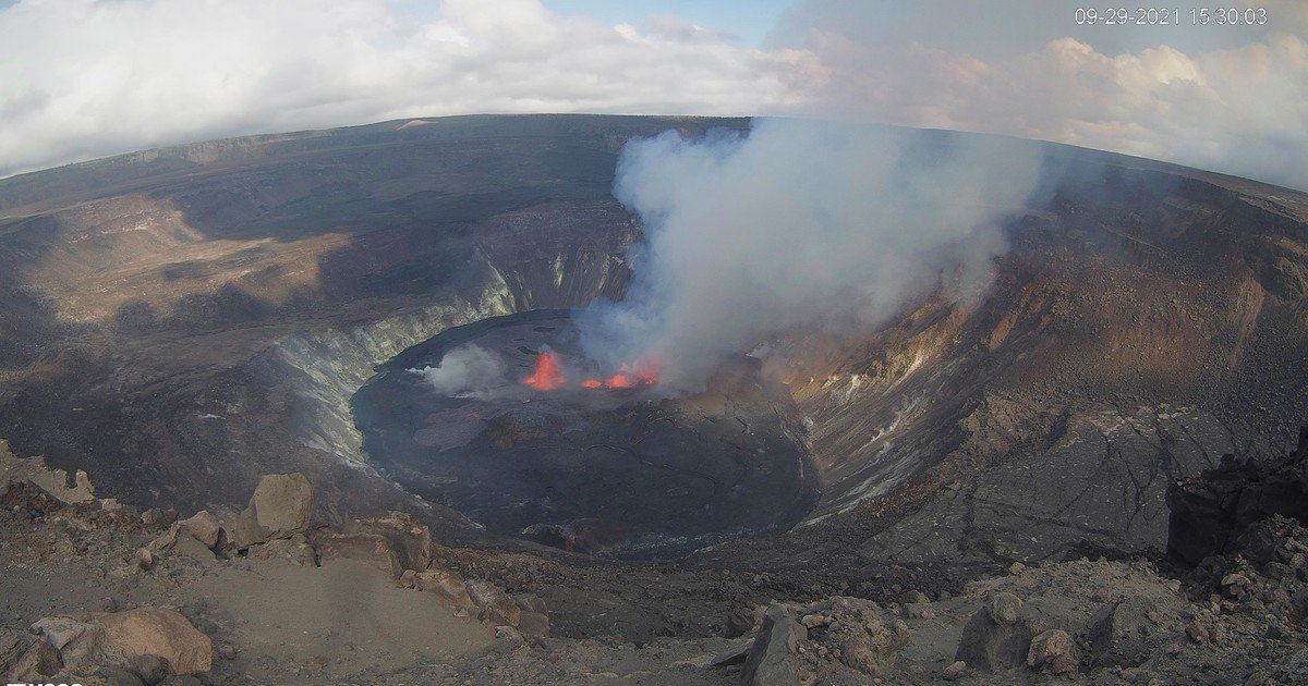 The most active volcano in the United States erupted in Hawaii