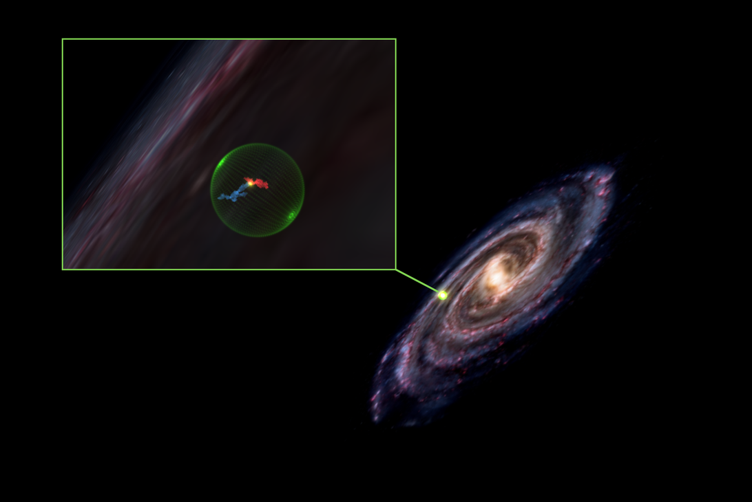 Astronomers discover an empty cavity dug out of space as a result of a violent explosion