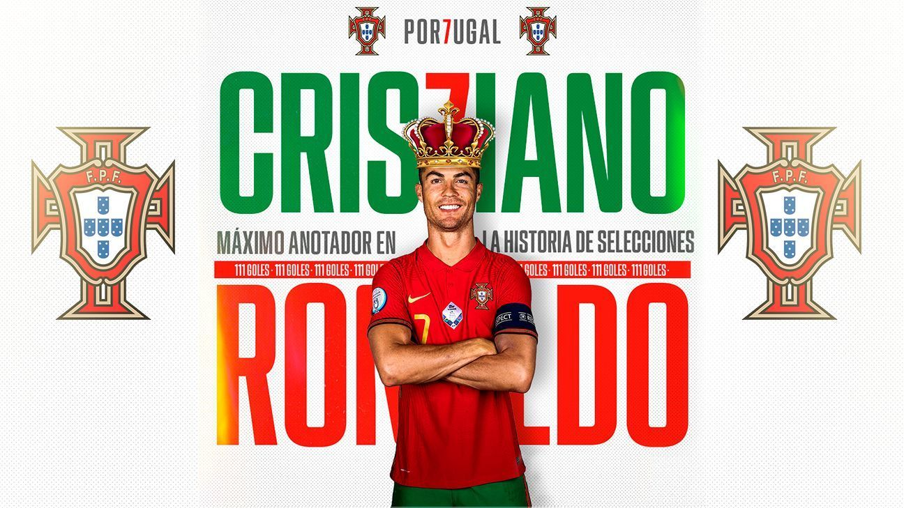Cristiano Ronaldo is the highest scorer in national team football after beating Ali Doi