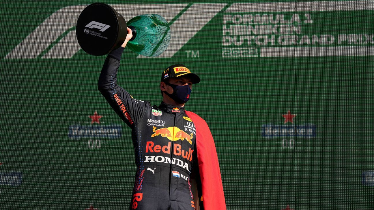 Max Verstappen reclaims the lead with victory at the Dutch Grand Prix