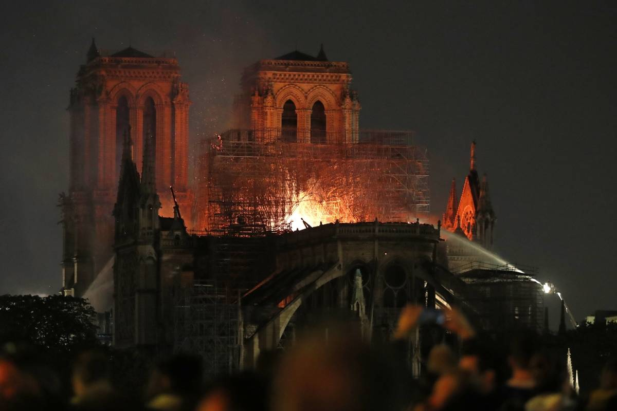 Notre Dame cathedral settled