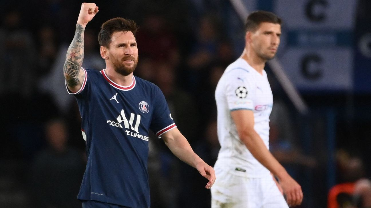 Paris Saint-Germain vs.  Manchester City – Match Report – September 28, 2021