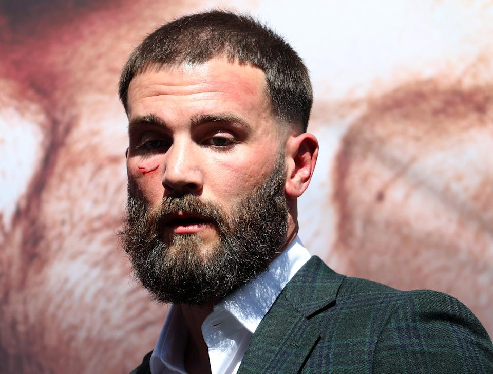 Beverly Hills, California - September 21: Caleb Plant during a press conference with Kenolo Alvarez on November 6 in Beverly Hilton, California before the super middleweight fight at Beverly Hilton on November 6.  (Photo by Ronald Martinez / Getty Images)