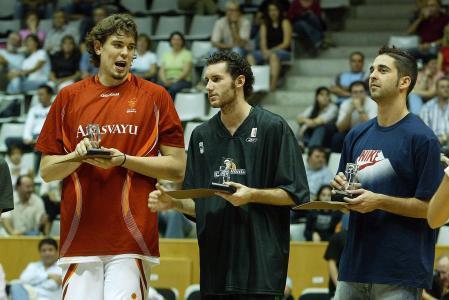 Marc Gasol (Girona), Rudy Fernandez (Juventut) and Juan Carlos Navarro (Barcelona), pictured from 2006