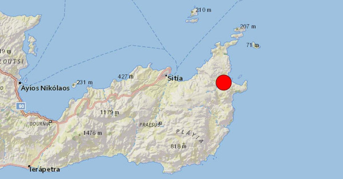 A 6.3-magnitude earthquake struck the Greek island of Crete