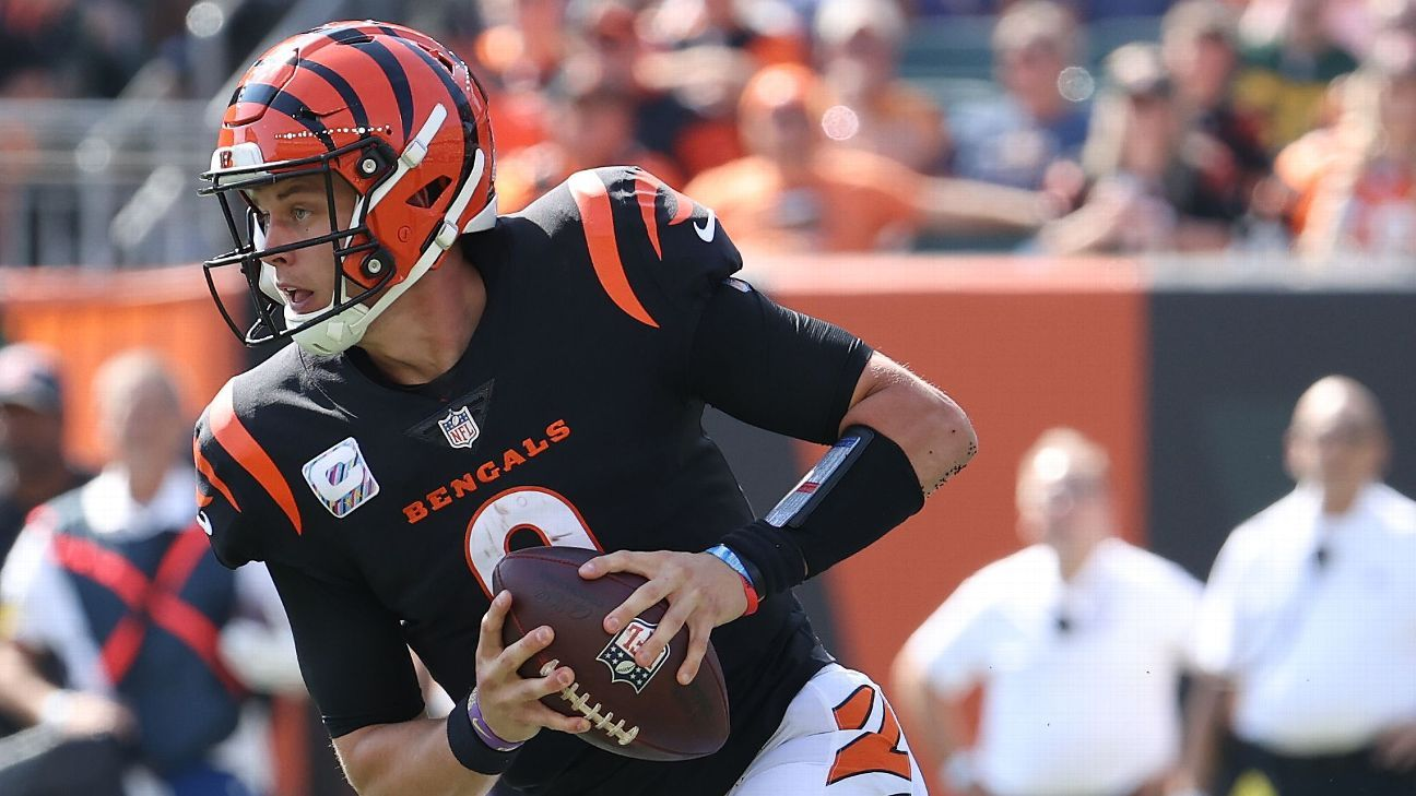 Bengals gives Joe Burrow a 'voice break' after a throat injury