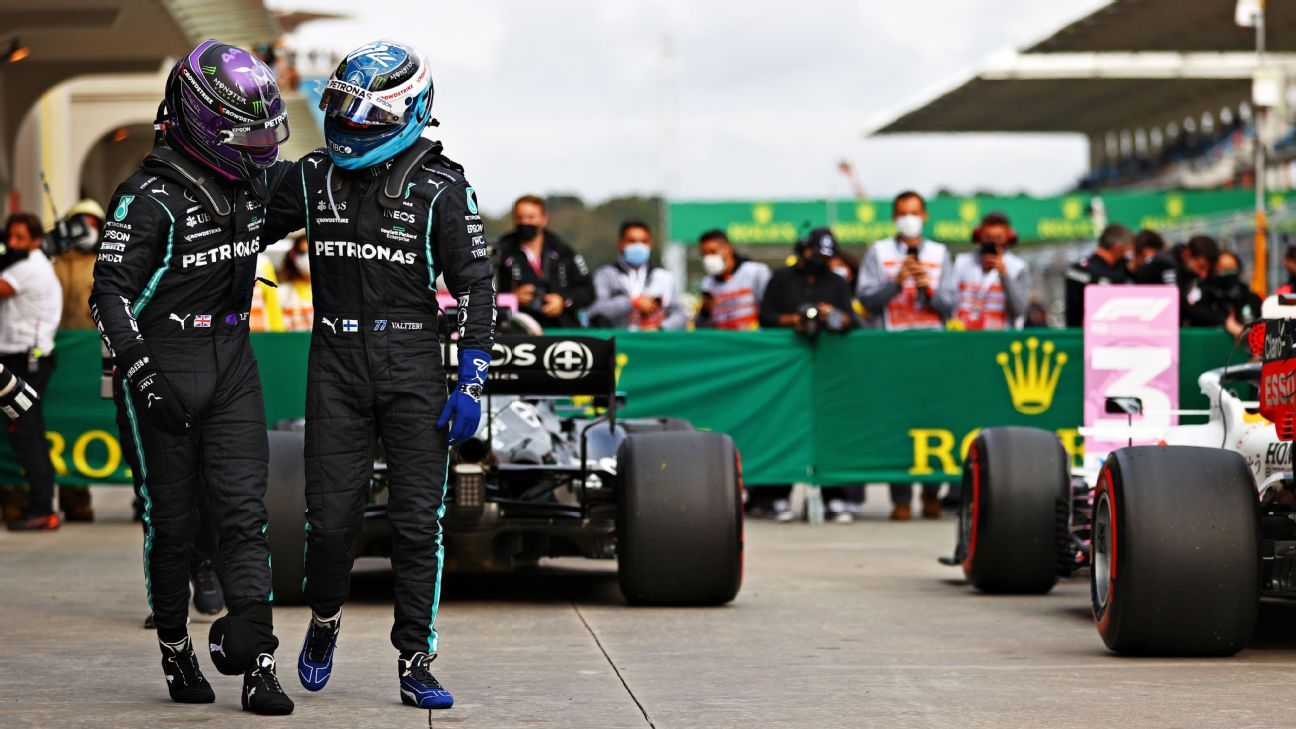 Bottas is out of first place due to the suspension against Hamilton in Turkey.  Verstappen will do it again